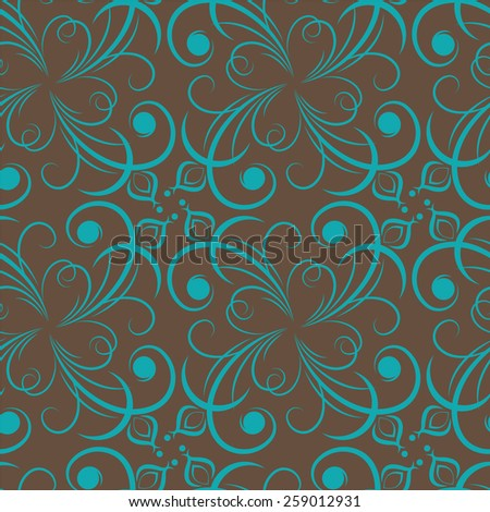 Damask seamless pattern background. Elegant luxury texture for wallpapers.