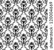 Damask seamless pattern. Raster version. - stock photo