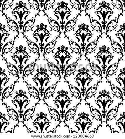 Damask seamless pattern. Raster version. - stock photo