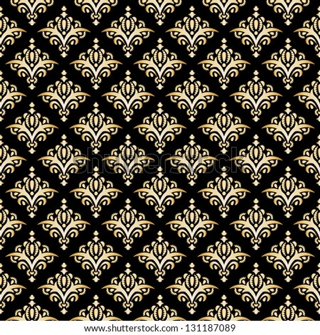 Damask Seamless Pattern, Texture. Elegant Luxury Background. - stock photo