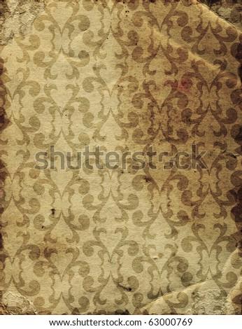 Damask vintage wallpaper - stock photo