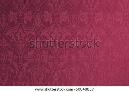 Damask wallpaper - stock photo