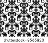 damask wallpaper pattern - stock photo