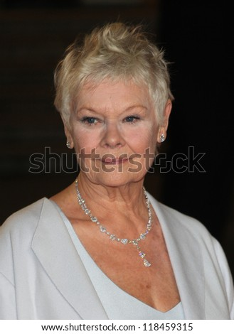 Dame Judi Dench arriving for the Royal World Premiere of 'Skyfall' at Royal Albert Hall, London. 23/10/2012 - stock photo