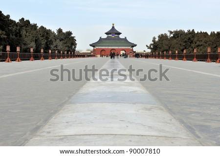 Danbi bridge in the Temple of Heaven in Beijing, China - stock photo