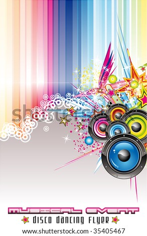 Dance and Music Event Background for poster or flyers