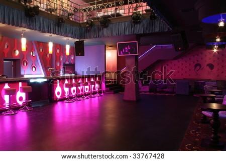 Dance club interior - stock photo
