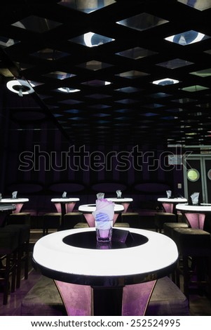 Dance club interior. Dance Center Bulgaria - stock photo