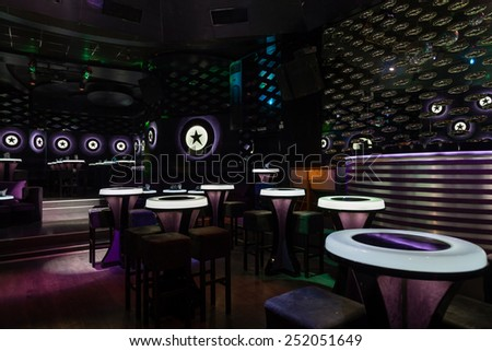 Dance club interior. Payner Dance Center Bulgaria - stock photo