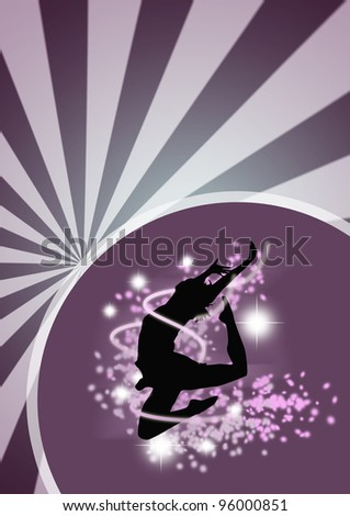 Dance girl background with space (poster, web, leaflet, magazine) - stock photo