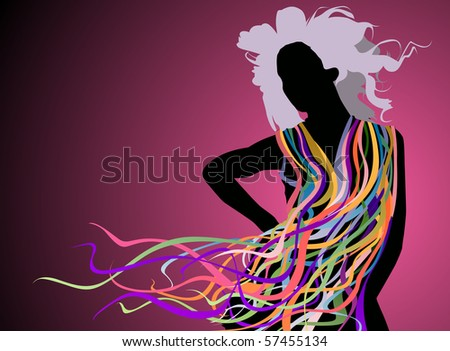 dance, go wild and have fun - stock photo