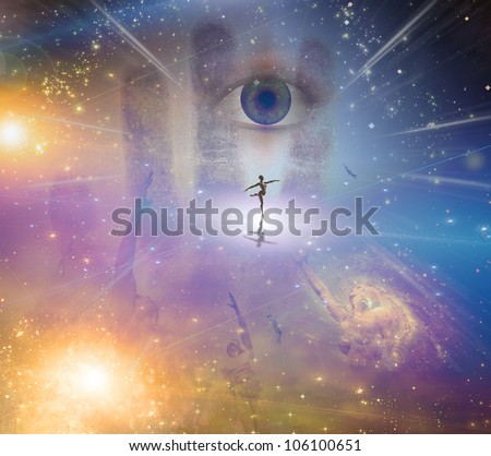 Dance of light - stock photo