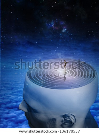 Dance of Mind - stock photo