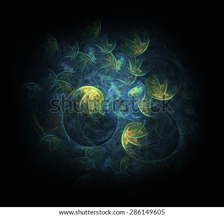 Dance of roe abstract illustration - stock photo
