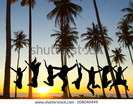 Dance the Night Away Excited  - stock photo
