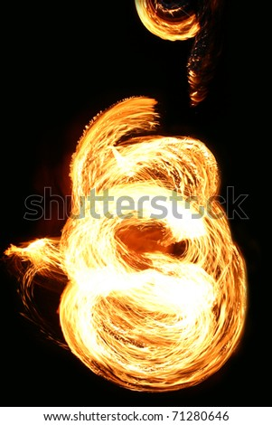 Dance with fire - stock photo