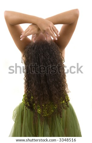 Dancer during a show - stock photo