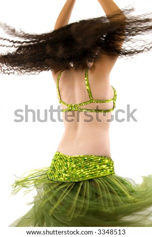 Dancer during a show (motion blur) - stock photo