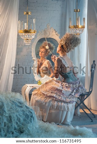 Dancer in the dressing room - stock photo