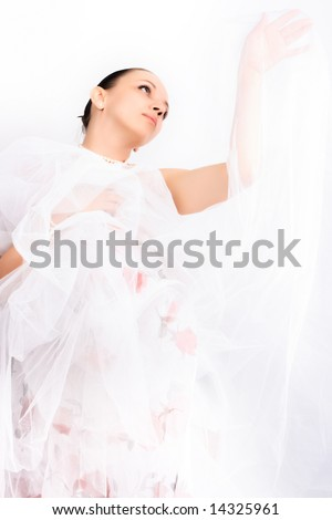 Dancing ballerina and elegance motion