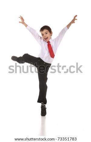 Dancing boy - stock photo
