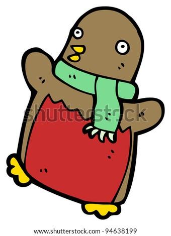 dancing christmas robin scarf stock illustration 94638199 shutterstock rh shutterstock com New Year Horn Clip Art Olaf Clip Art