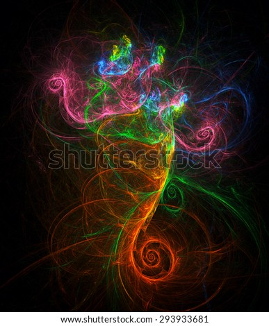 Dancing Genie abstract illustration  - stock photo
