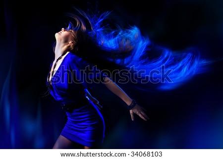 Dancing girl. - stock photo
