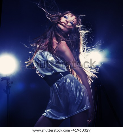 Dancing girl 5 - stock photo