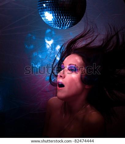 Dancing Glamor Female - stock photo