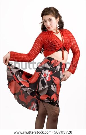 dancing Gypsy 1 - stock photo