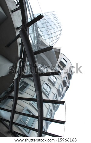 dancing house in the Prague - stock photo