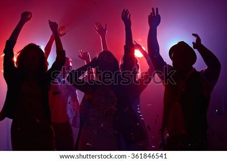 Dancing in club - stock photo