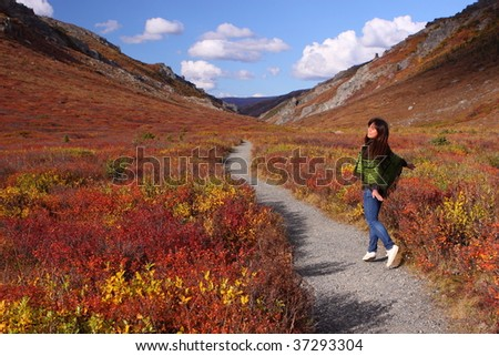 Dancing in Fall Colo\ - stock photo