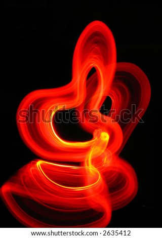 dancing in red - stock photo