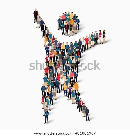 Dancing Man Symbol People Stock Illustration 401001967 Shutterstock