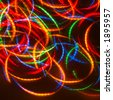 Dancing Neon Disco Lights (Ideal For CD-cover) - stock photo