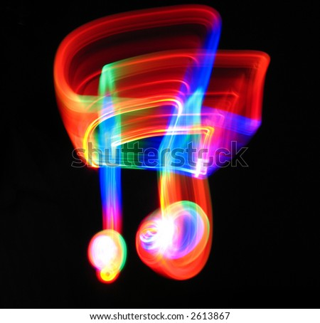 Dancing notes - stock photo