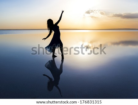 Dancing on water  - stock photo