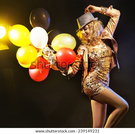 Dancing woman - stock photo