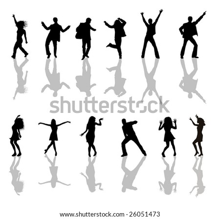 dancing young people