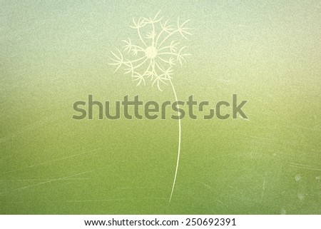 dandelion silhouette on abstract blurred natural background - stock photo