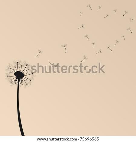 Dandelion Vector Illustration - stock photo