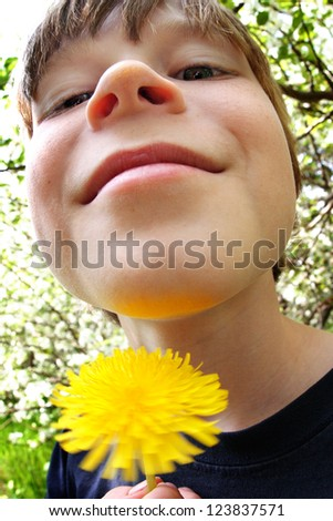 Dandelions can tell if you like butter - stock photo