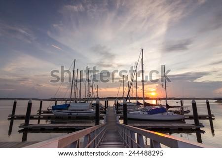 Danga Bay during sunset - stock photo
