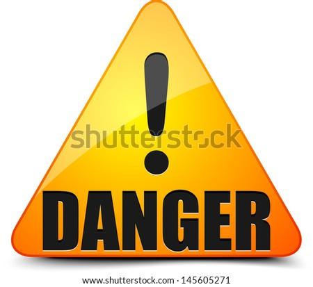 Danger! - stock photo