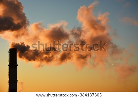 Danger! Air pollution! - stock photo