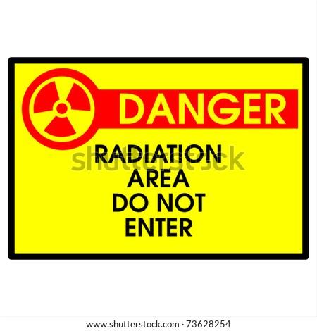 Danger area- radiation do not enter - stock photo
