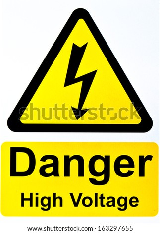 Danger High Voltage Sign - stock photo