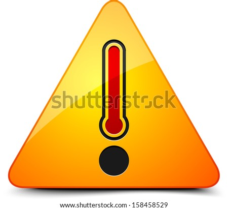 Danger Hot temperature sign - stock photo